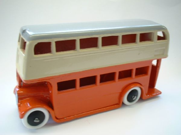 A DINKY TOYS COPY MODEL 29C PRE-WAR BUS IN ORANGE AND CREAM